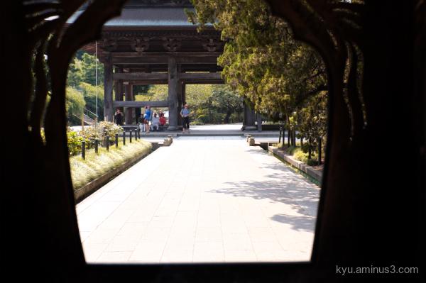 framing Kenchoji temple Kamakura kanagawa