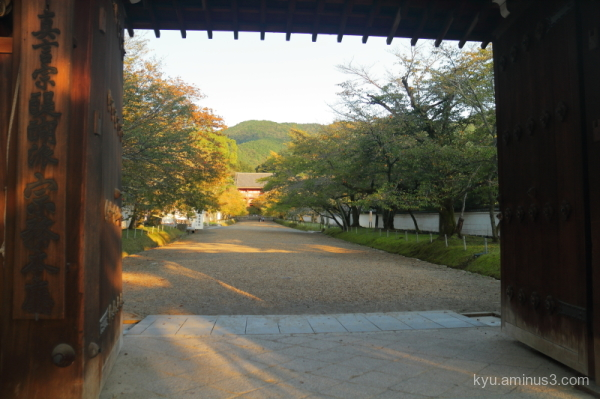 gate Late-afternoon-light Daigoji temple Kyoto