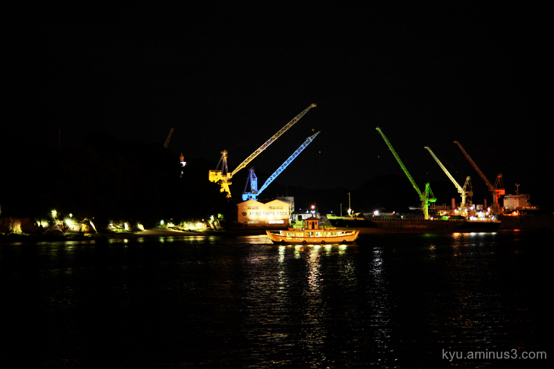 night-view port Onomichi Hiroshima
