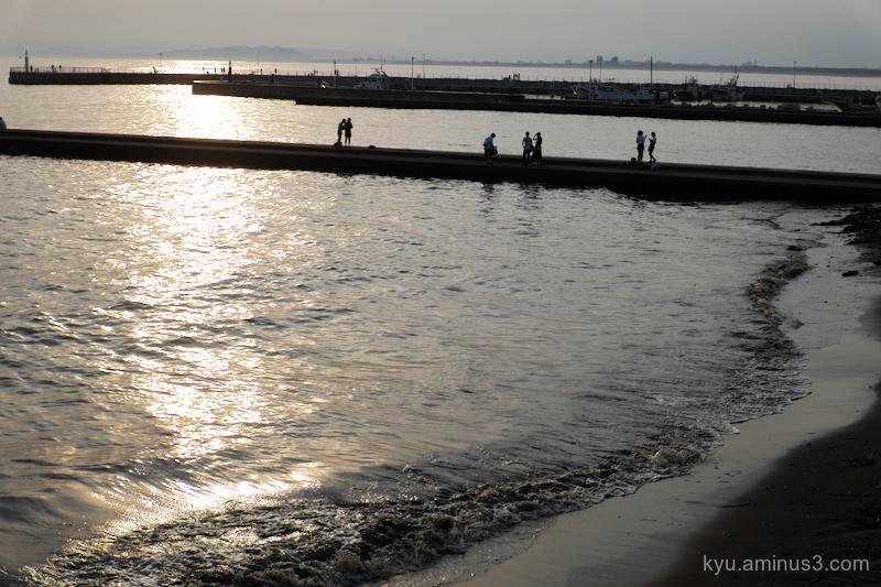 sunset Enoshima beach Kanagawa