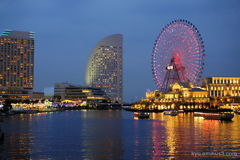 night-view Minatomirai Yokohama
