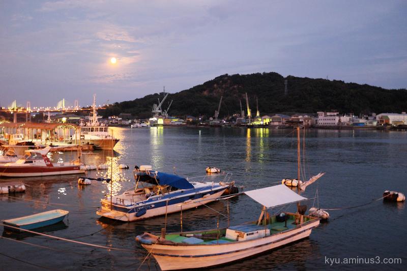 evening-view port Onomichi Hiroshima