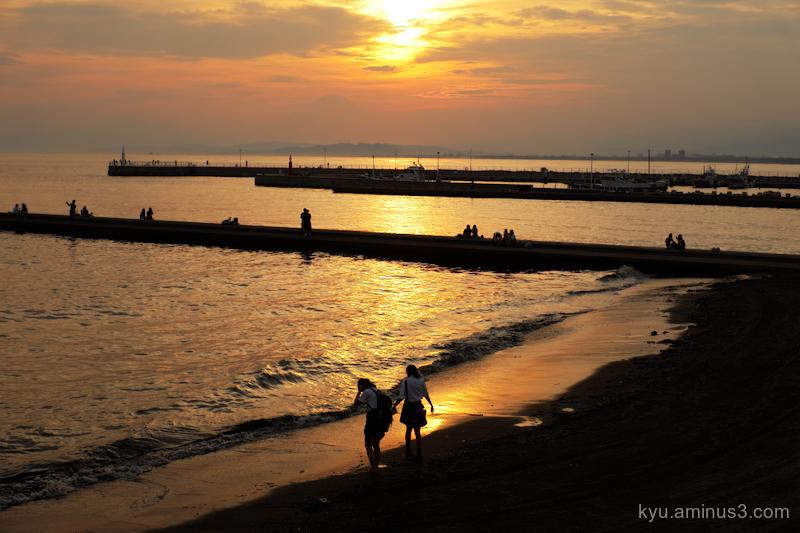 sunset beach Enoshima Kanagawa