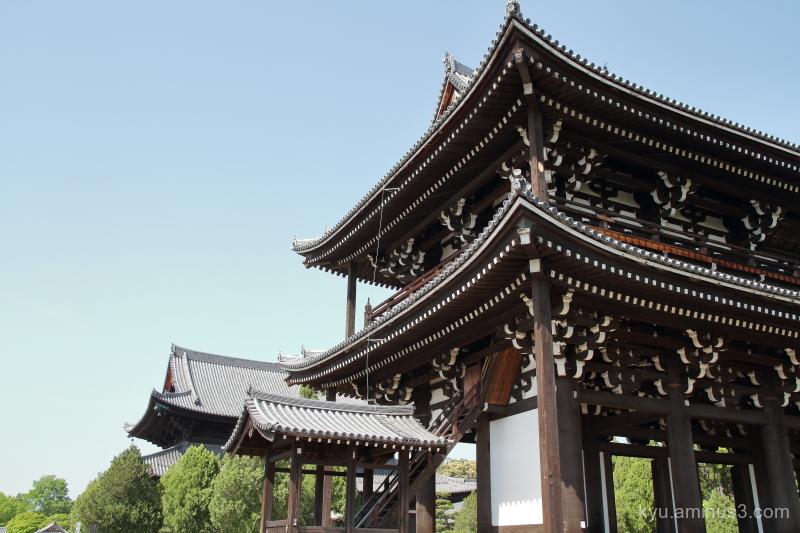 blue-sky Tofukuji temple Kyoto
