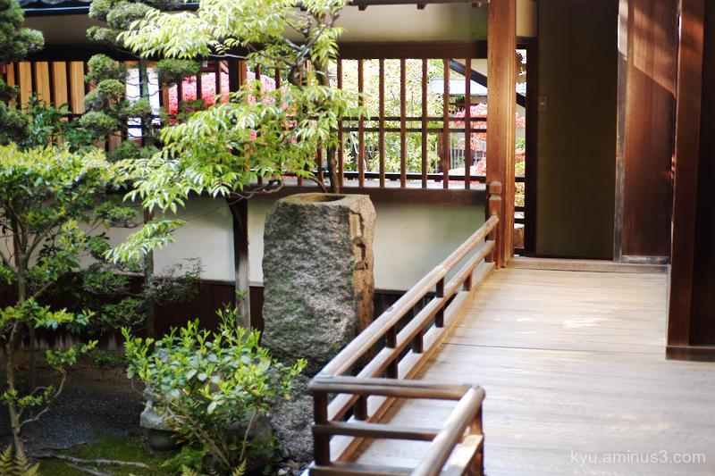 corridor garden Seideneigenin temple Kyoto