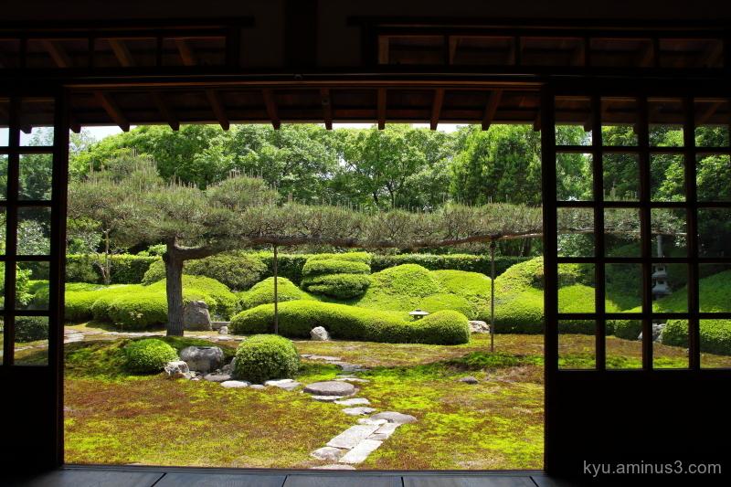 dry-landscape garden Ikkain temple Kyoto