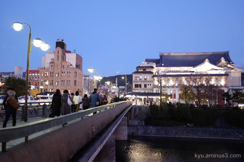 evening Shijo-bridge Kyoto