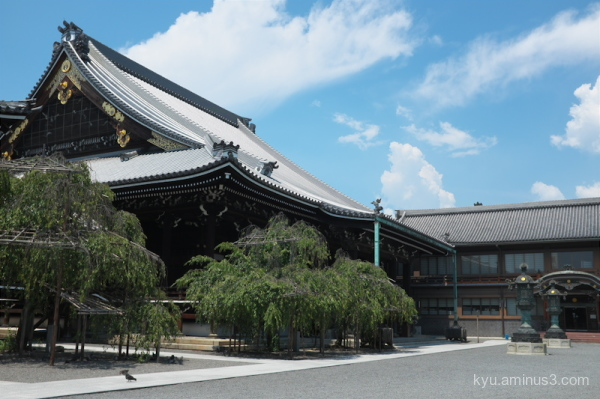 blue-sky Bukkoji temple kyoto