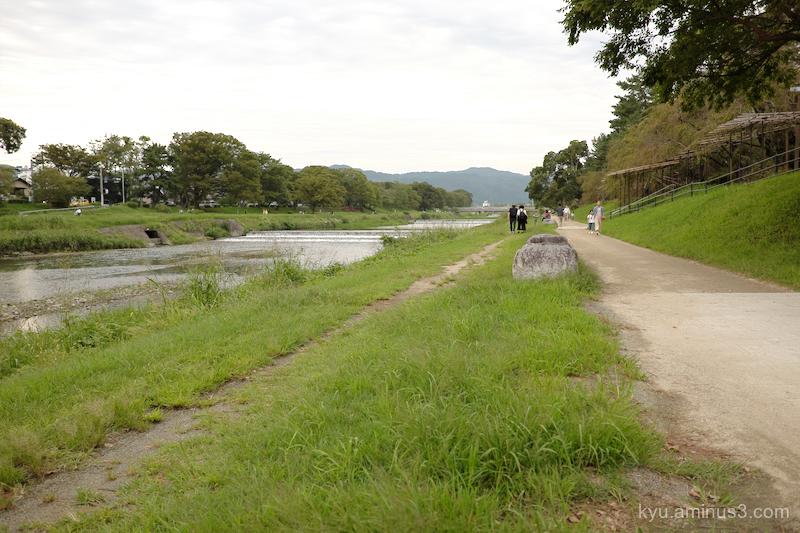 sunny-day Kamogawa Kamo-river Kyoto