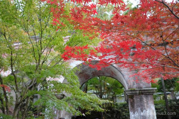 red-maple aqueduct Kimono Nanzenji temple Kyoto