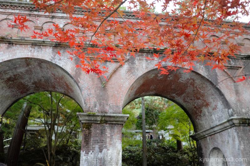 autumn aqueduct Kimono Nanzenji temple Kyoto