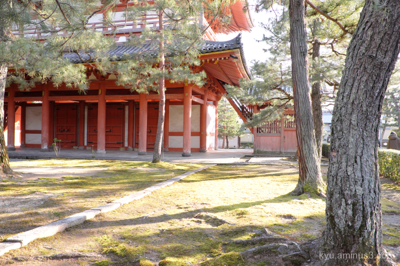 sunny-day afternoon-light Daitokuji temple