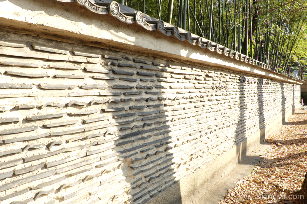 wall shadow Daitokuji temple Kyoto