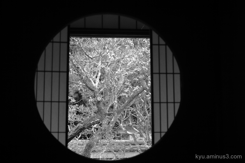 round-window Ryugenin temple mono Kyoto