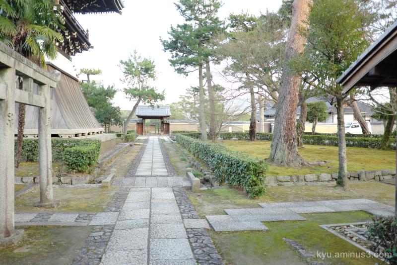 go-straight approach Shokokuji temple kyoto