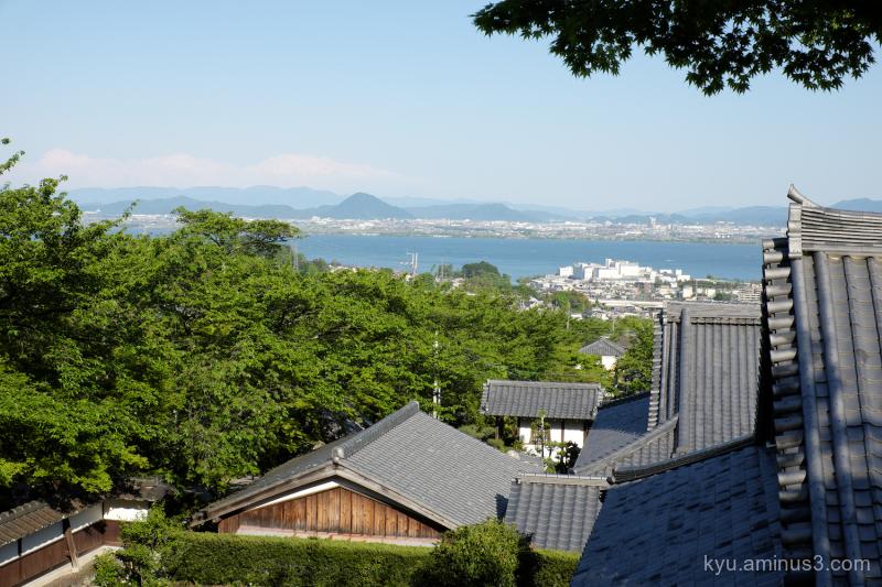 Lake-Biwa Saikyoji temple Otsu Shiga