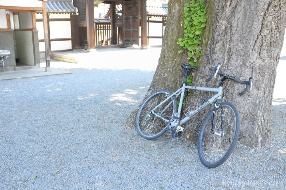 bicycle shade Bukkoji temple Kyoto