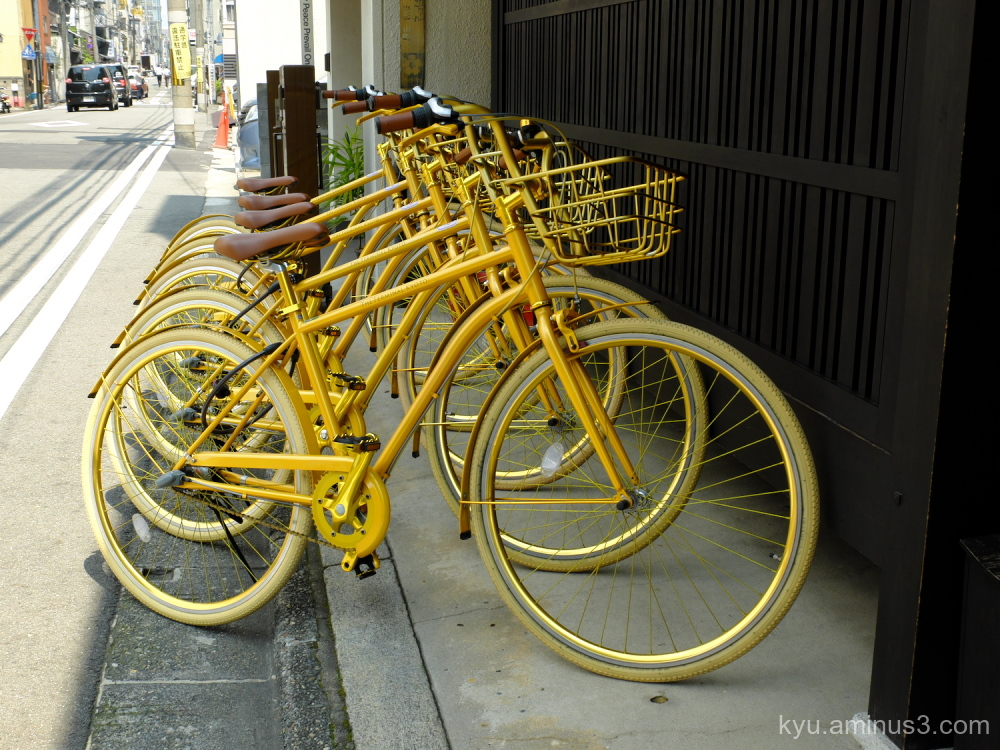 golden-bike Bicycle-Sunday Kyoto