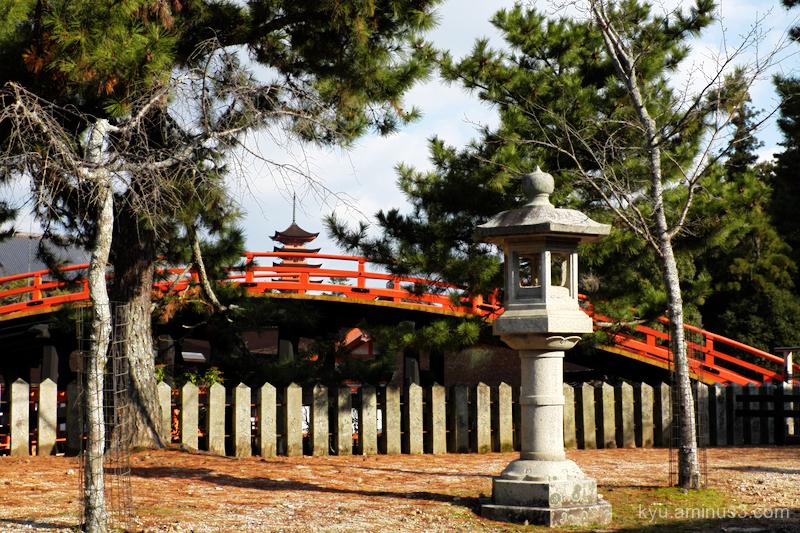 blue-sky pagoda Itsukushima-shrine Miyajima