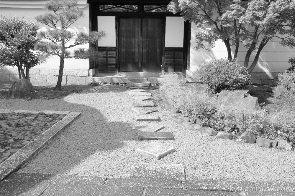 afternoon-light Myokakuji temple Kyoto mono