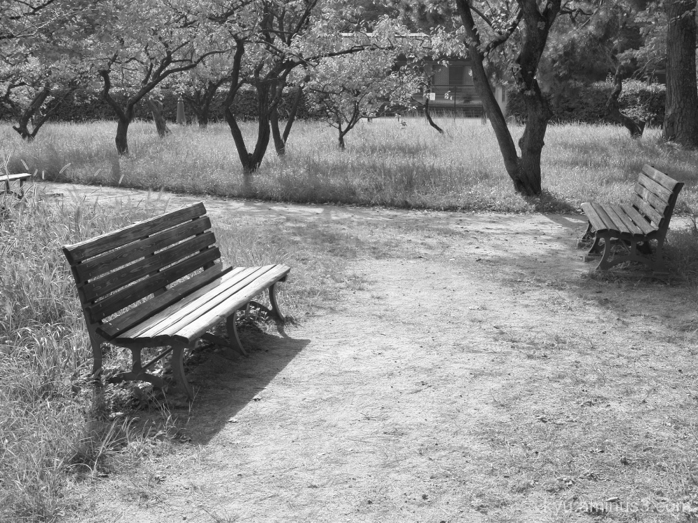 bench Gosho Kyoto mono