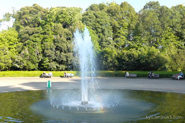 fountain bench botanical-garden Kyoto