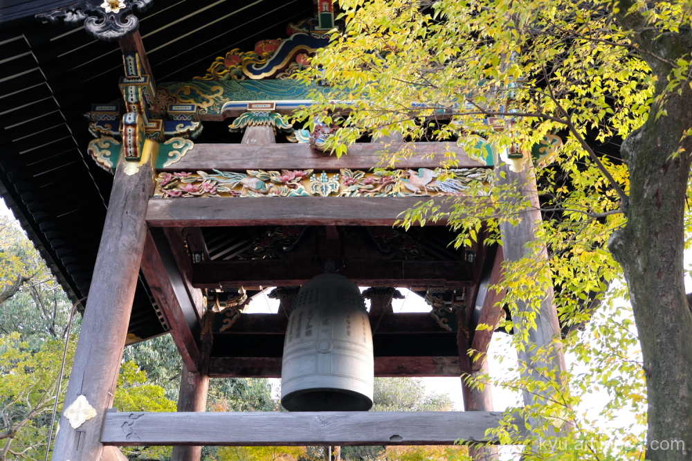 autumn bell-tower Nishihonganji temple Kyoto