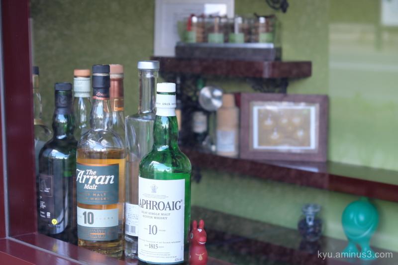 counter bottles