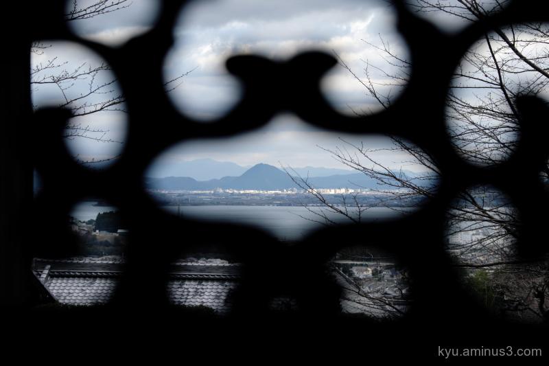 view Saikyoji temple Lake-Biwa Shiga