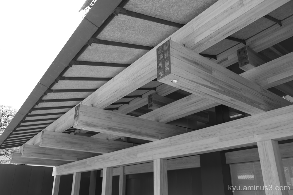 beam wood roof mono