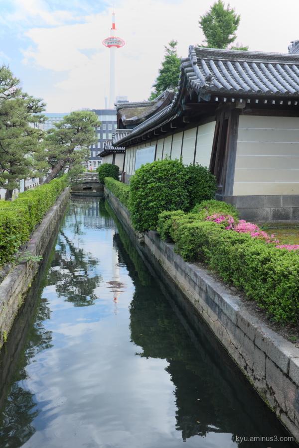 Kyoto-tower Higashihonganji temple Kyoto