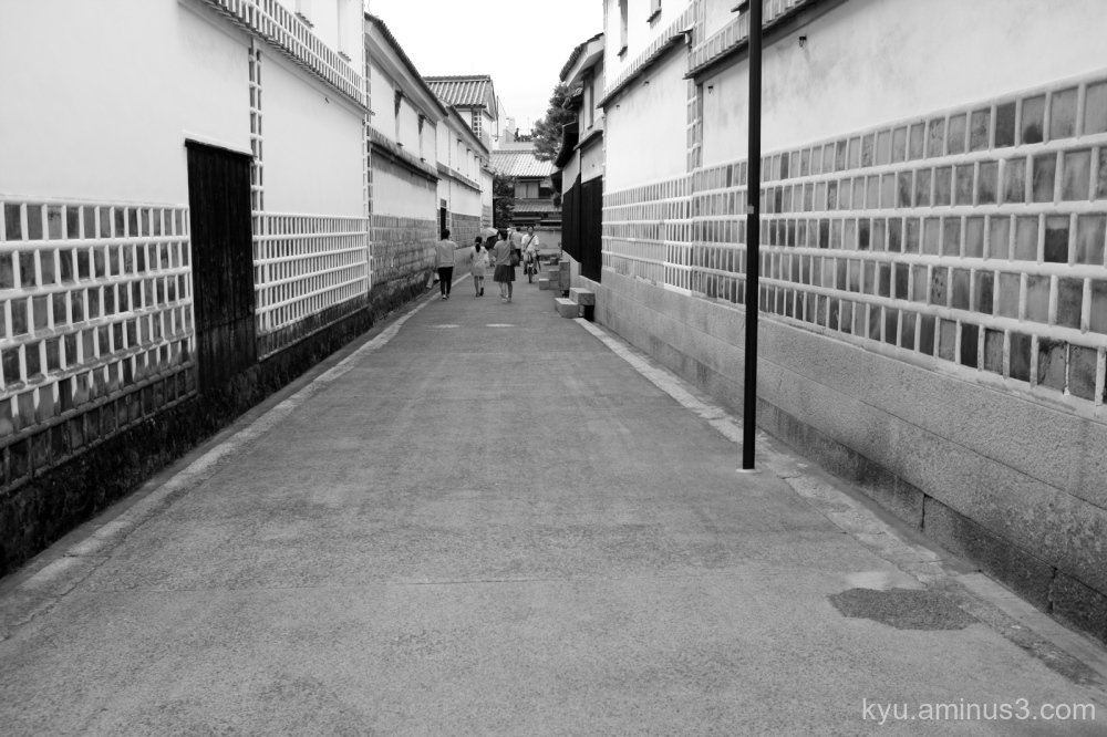 Walking in the historical street