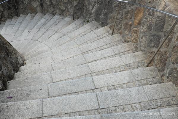 Curving steps