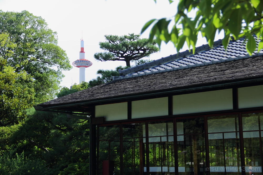 tower and old architecture 枳殻邸