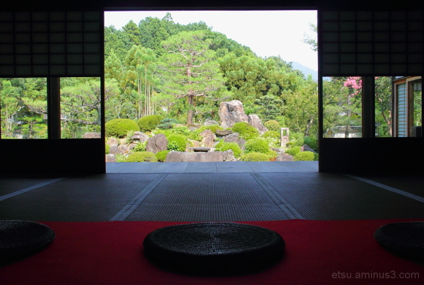 Seeing the garden from the inside 妙満寺