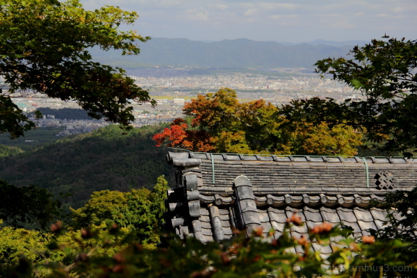Do you see a townscape over there? 善峯寺
