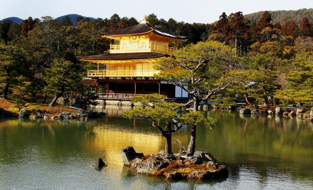 The gold 金閣寺