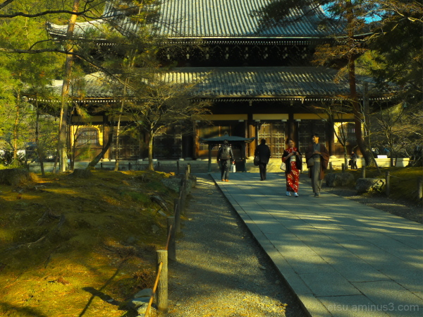 Taking a walk on a path (at a temple) 南禅寺