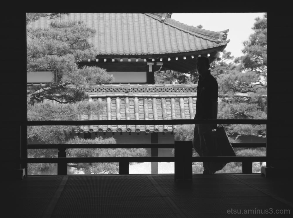 The silhouette 天龍寺