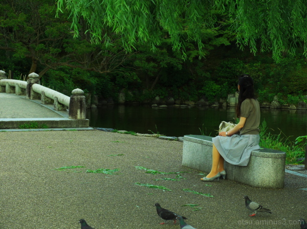 The park is nice for being in deep thought 円山公園