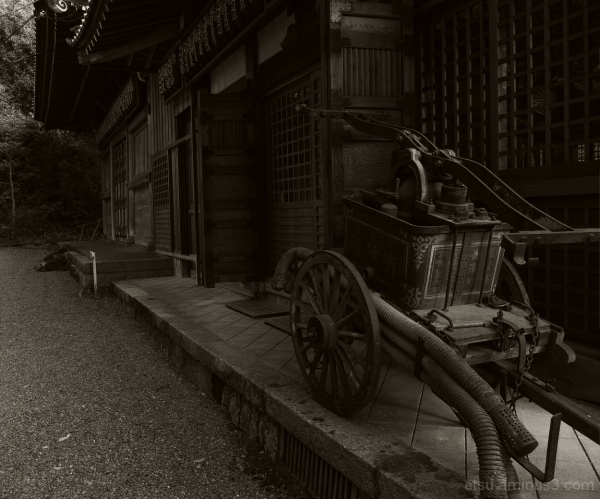 The old fire extinguisher #B&W 赤山禅院 消火器