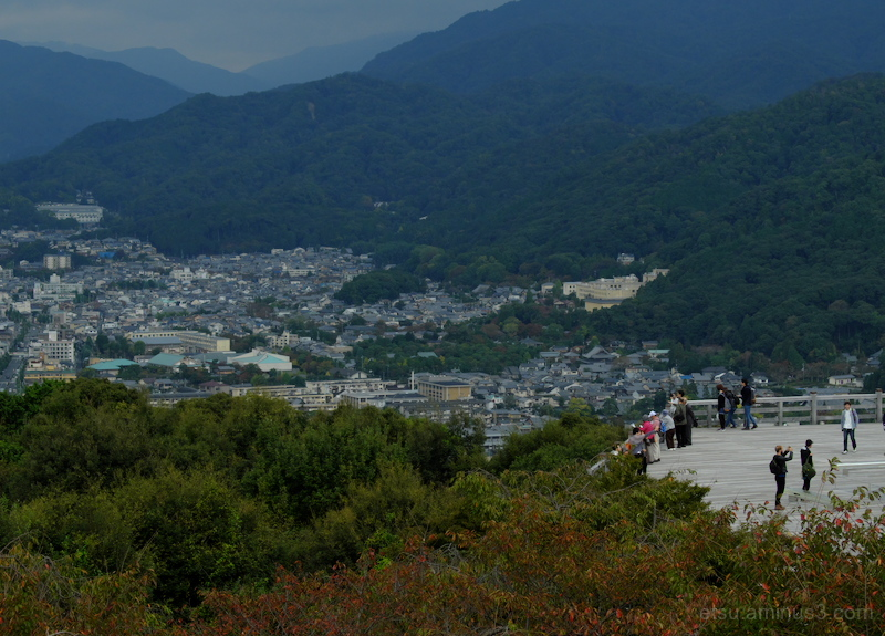 Seeing a panoramic view in Kyoto