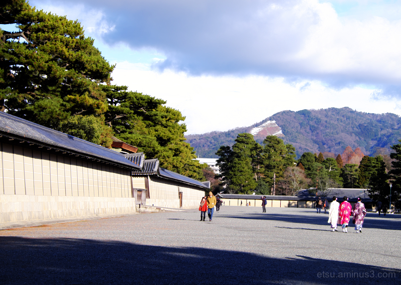 Mt. Daimonji with the remaining snow