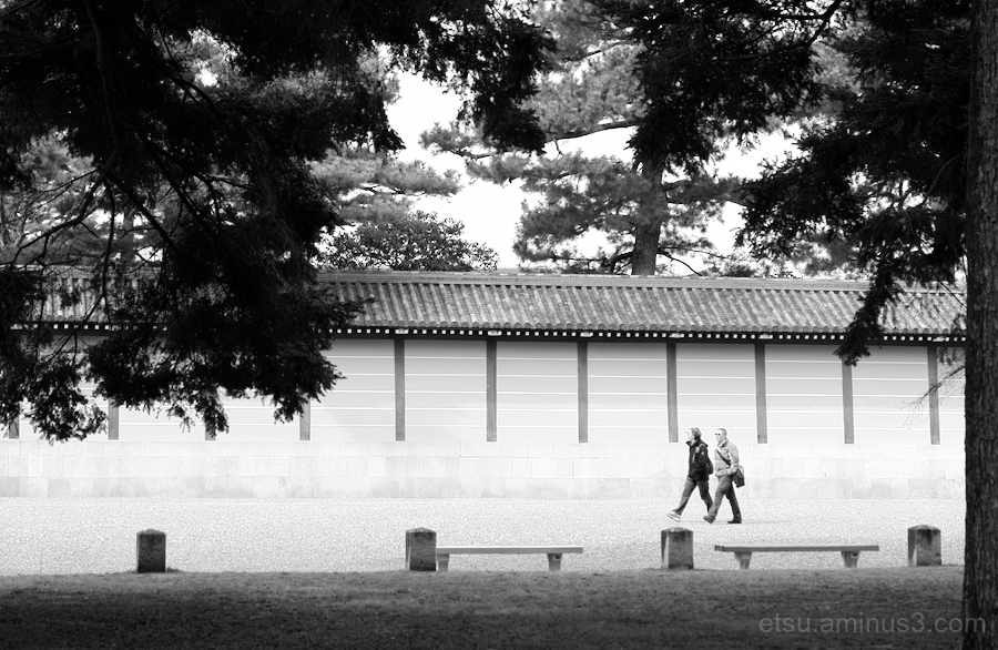 walking in the Kyoto imperial palace