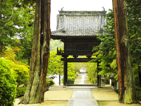 Gate at a Zen temple
