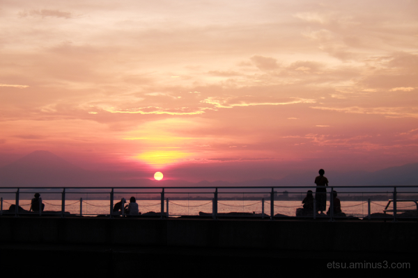 Enoshima  sunset