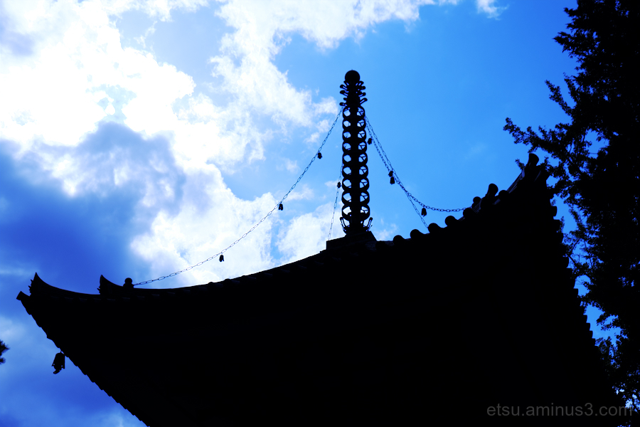 The silhouette of pagoda