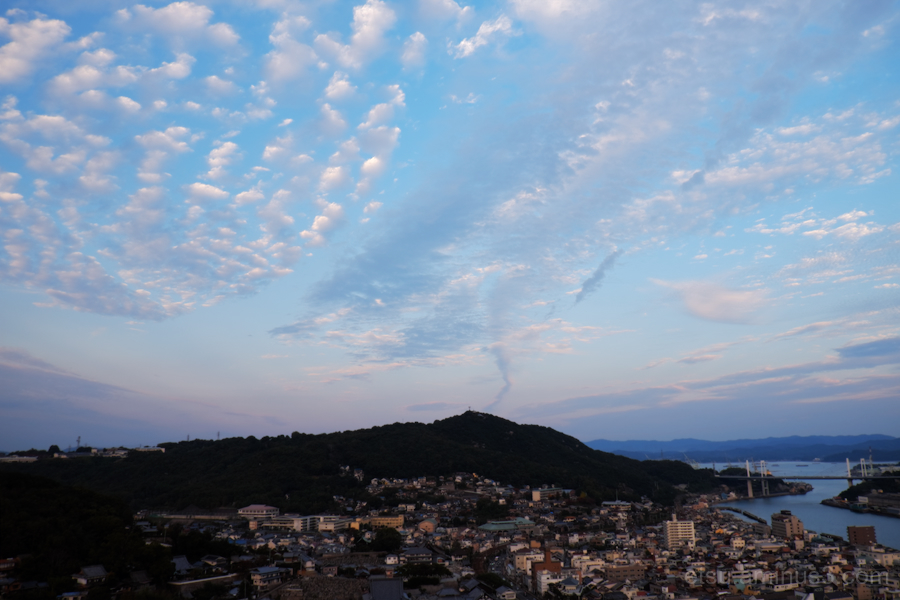 The autumn sky(Onomichi)
