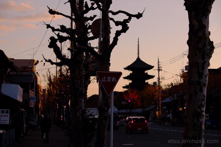 The  silhouette of Toji temple