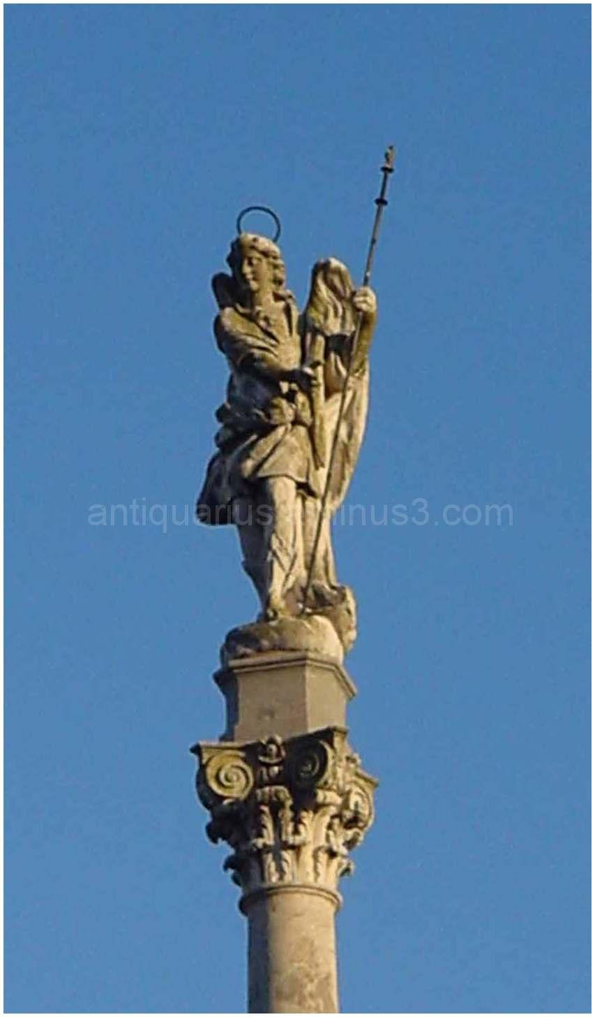 Angel Statue in Cordoba's El Mesquita Closer